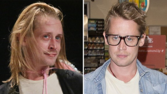 Macaulay Culkin's new look is winning rave reviews from fans. The actor was spotted in July 2017 having gained weight and cut his hair. The child star, seen on the left in 2014, looked so gaunt in 2012 there was speculation he was on drugs - which he denied.