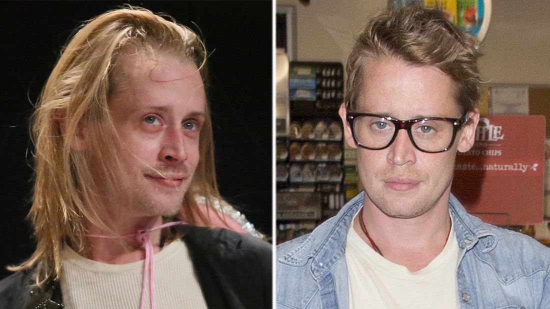 Macaulay Culkin's new look is winning rave reviews from fans. The actor was spotted in July having gained weight and cut his hair. The child star, seen on the left in 2014, looked so gaunt in 2012 there was speculation he was on drugs - which he denied.