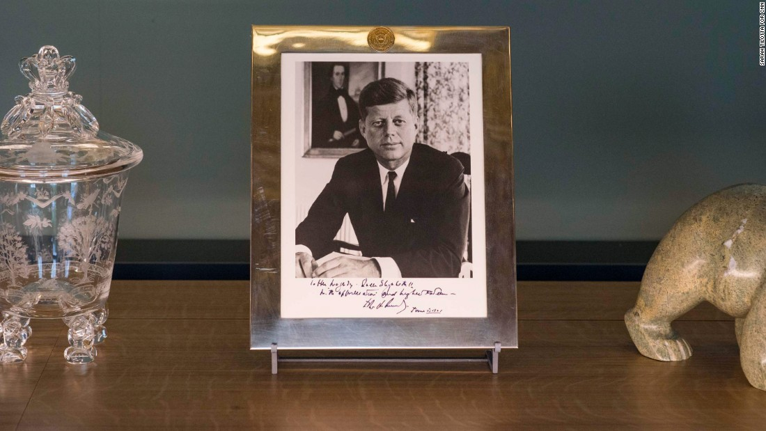 Queen Elizabeth has met every US president since Dwight Eisenhower (except for Donald Trump, who has been invited to make a state visit to the United Kingdom). John F. Kennedy gave her a photograph of himself when he visited Buckingham Palace.