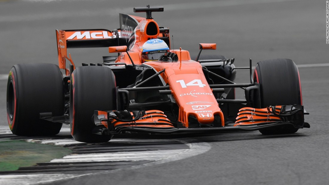 Alonso in action at the 2017 British Grand Prix for McLaren. The Spaniard -- a popular figure in Formula One -- has endured a torrid few seasons.