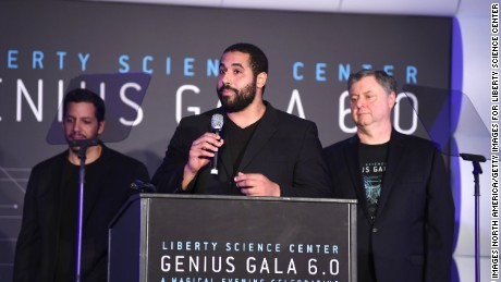 Urschel on stage during Genius Gala 6.0 at Liberty Science Center in Jersey City, New Jersey.