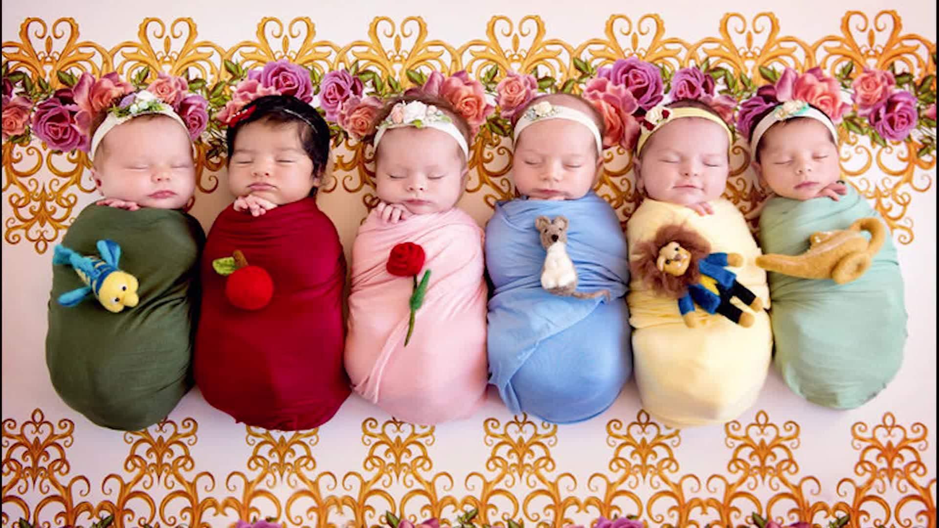 tiny babies transformed to disney princesses - cnn video