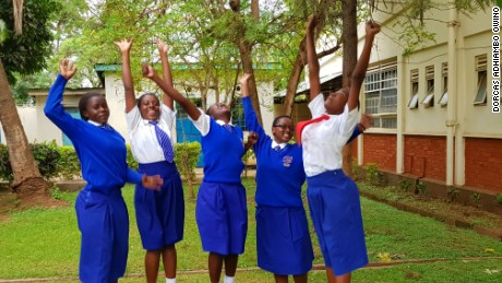 The five Kenya girls, 'The Restorers', created an app called i-Cut, designed to connect girls affected by Female Genital Mutilation (FGM) to legal and medical assistance.