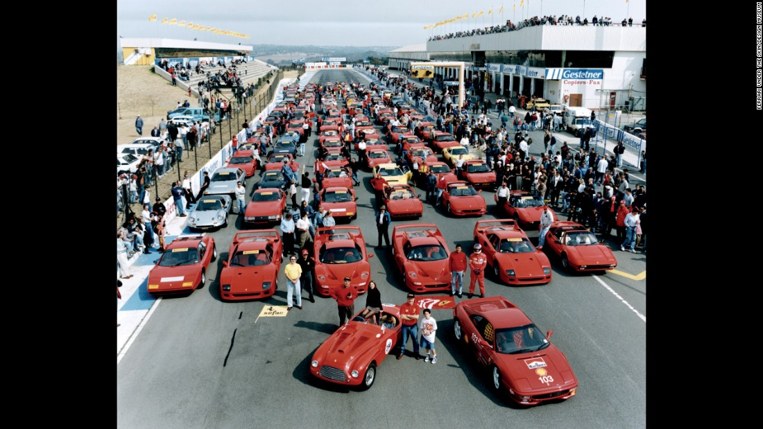 As the turn of the millennium approached, what had started with Enzo Ferrari facilitating gentlemen racing their cars had evolved into a global phenomenon. Here, racing enthusiasts gather at South Africa's Kyalami Circuit to celebrate Ferrari 50th Anniversary.