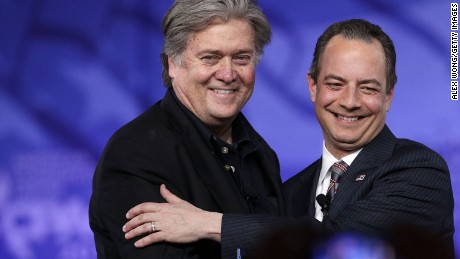 Steve Bannon just destroyed Reince Priebus on the 'Access Hollywood' tape