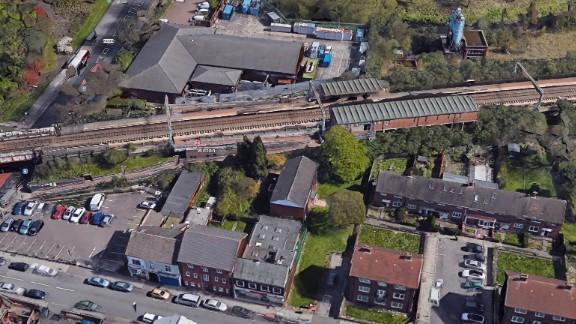 Bird's eye view of Witton Station in Birmingham, England.