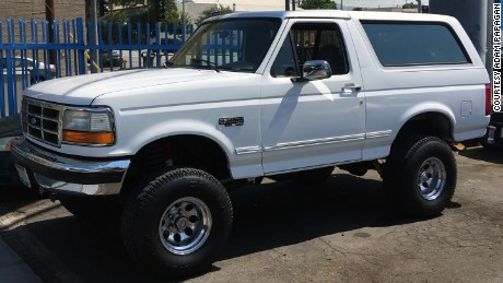 The 1994 white Bronco on display will not be the original, but it will be very similar.