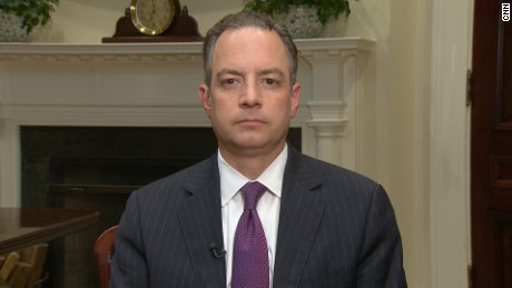 Iso of Wolf's exclusive live interview with Reince Priebus from The White House Roosevelt Room.