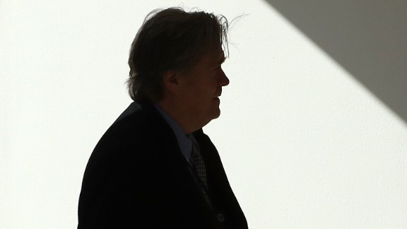 WASHINGTON, DC - FEBRUARY 24: Chief Strategist Steve Bannon follows U.S. President Donald Trump walks into the Oval Office after arriving back at the White House, on February 24, 2017 in Washington, DC. President Trump made the short trip to National Harbor in Maryland to speak at CPAC, the Conservative Political Action Conference.  (Photo by Mark Wilson/Getty Images)