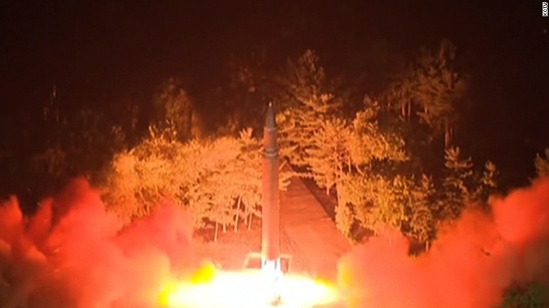 N Korea missile flew near passenger jet path