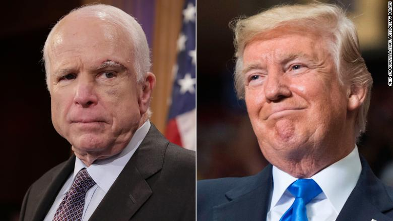 Sources: McCain doesn't want Trump at funeral