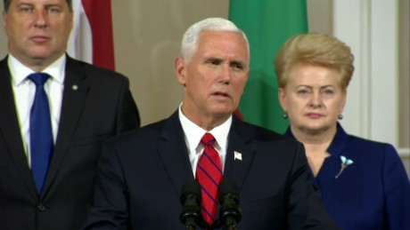 US vice president mike pence in tallinn estonia reacts to Russia diplomatic restrictions _00004213