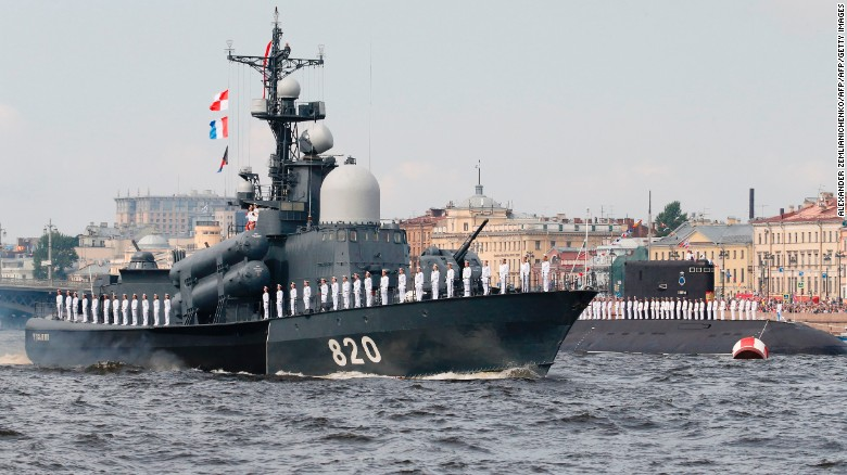 Russia shows military might during Navy Day