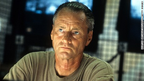 Sam Shepard in a stare in a scene from the film 'Black Hawk Down', 2001.