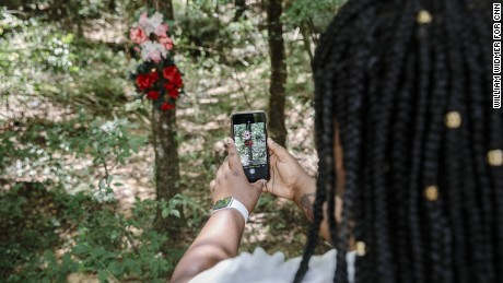 Courtney Ruffin visits the site of her mother's drowning in St. Helena Parish, Louisiana.
