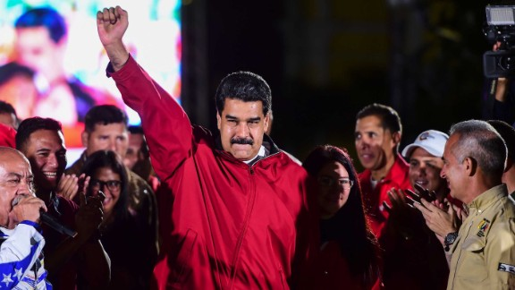 Maduro celebrates the results of a national vote on Sunday, July 30. His opponents boycotted the election and demonstrated against it for weeks, saying he orchestrated it to get around the existing National Assembly, which the opposition has controlled since 2015. Maduro has argued that the Constituent Assembly will help bring peace to a polarized country, with all branches of the government falling under the political movement founded by his late mentor and predecessor, Hugo Chavez.