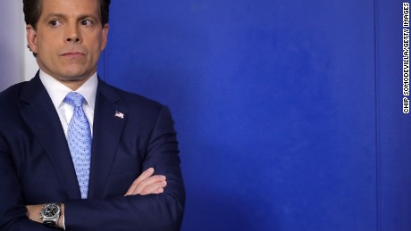 WASHINGTON, DC - JULY 21:  Anthony Scaramucci attends the daily White House press briefing in the Brady Press Briefing Room at the White House July 21, 2017 in Washington, DC. White House Press Secretary Sean Spicer quit after it was announced that Trump hired Scaramucci, a Wall Street financier and longtime supporter, to the position of White House communications director.  (Photo by Chip Somodevilla/Getty Images)