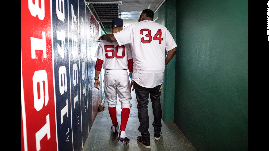 "Former Boston Red Sox star David Ortiz, right, walks with current Red Sox star Mookie Betts before a game at Fenway Park on Sunday, July 30. Ortiz was attending a reunion of the 2007 team that won the World Series. <a href=""http://www.cnn.com/2017/07/24/sport/gallery/what-a-shot-sports-0725/index.html"" target=""_blank"">See 27 amazing sports photos from last week</a>"