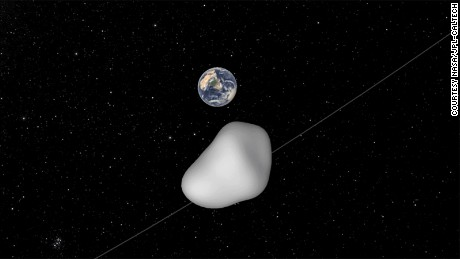 NASA scientists cannot yet predict exactly how close the asteroid will approach, but it won't come closer than 4,200 miles (6,800 kilometers) from Earth's surface.