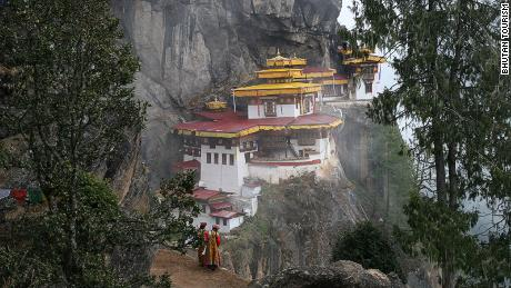 Bhutan places a tight control on tourism, including visits to the Tiger's Nest, a sacred Buddhist site on a cliffside.