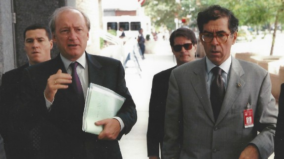 In the late 1990s, Booth, second from right, was the agent-in-charge of a protective security detail for French Foreign Minister Hubert Vedrine, second from the left, during his annual September visit to the United Nations General Assembly headquarters in New York City.