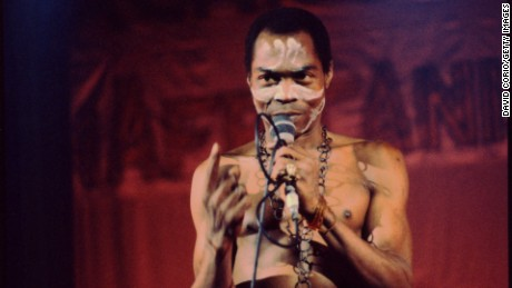 UNSPECIFIED - CIRCA 1980:  Photo of Fela Kuti  (Photo by David Corio/Michael Ochs Archives/Getty Images)