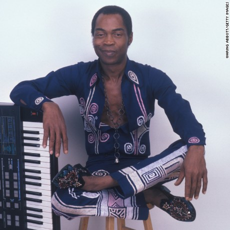NEW YORK - OCTOBER 15:  Nigerian multi-instrumentalist, musician, composer and human rights activist Fela Kuti at a portrait session on October 15, 1986 in New York City.  (Photo by Waring Abbott/Getty Images)