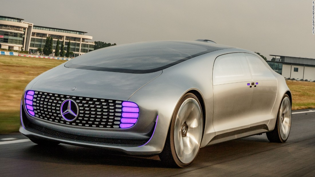 Test Ride The Mercedes F 015 Cnn Style