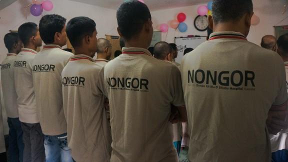 Clients at NONGOR drug treatment centre in Cox