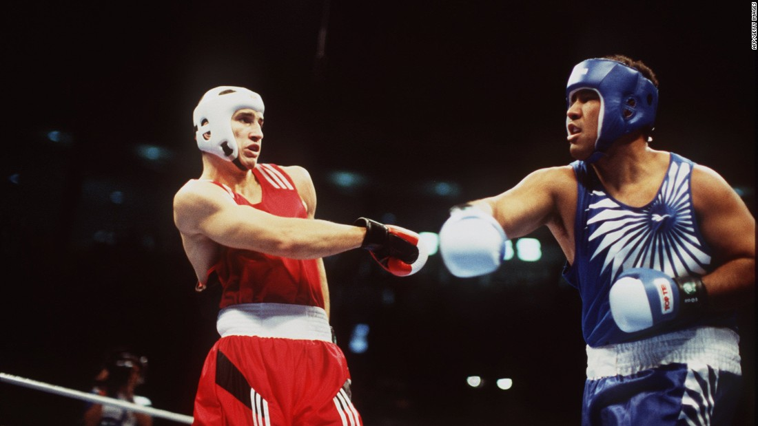 Klitschko rose to prominence at the 1996 Summer Olympics in Atlanta defeating Paea Wofgram of Tongo in the super heavyweight gold medal bout.