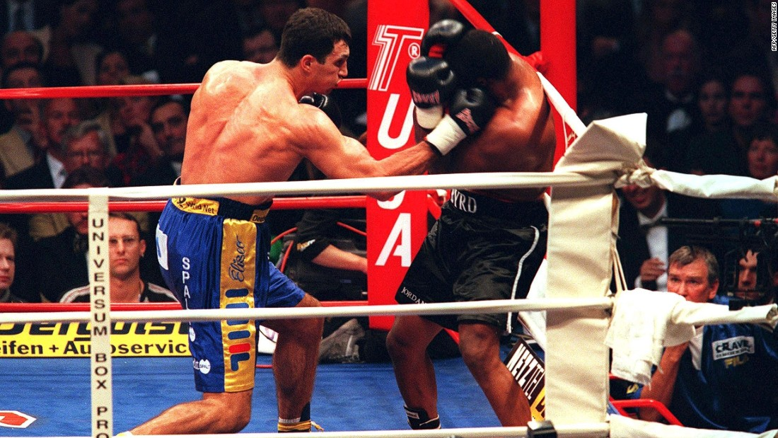 Klitschko won his first heavyweight title in 2000 -- claiming the WBO belt after defeating America's Chris Byrd.