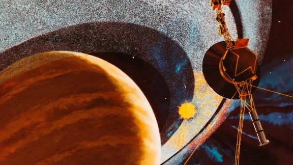 Voyager 1 Passing Saturn, An Artist