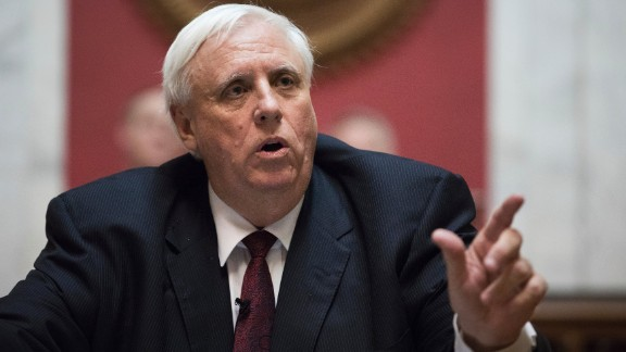 Gov. Jim Justice delivers his first State of the State speech on Wednesday, Feb. 8, 2017, in Charleston, W.Va. (AP Photo/Walter Scriptunas II)