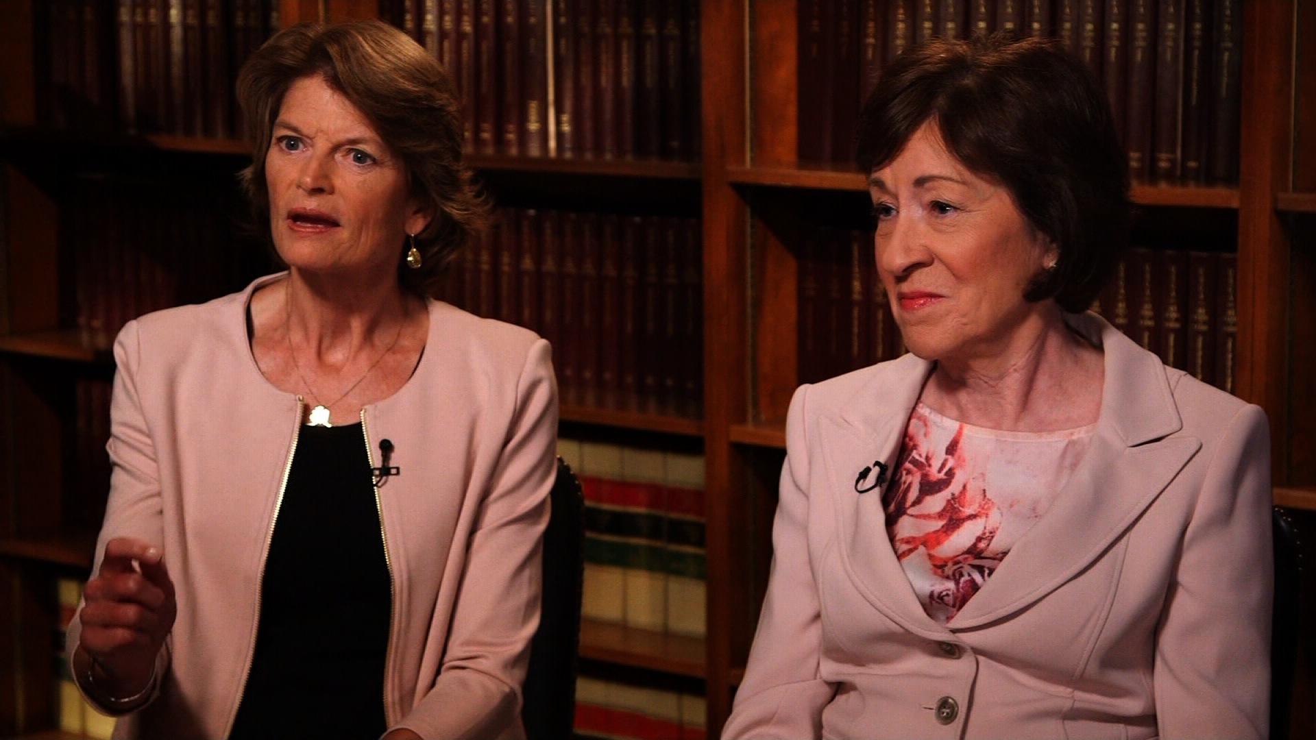 Image result for photos of senator collins and lisa murkowski