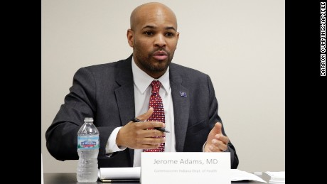 "To be confirmed as surgeon general ""is truly an indescribable honor,"" Dr. Jerome Adams tweeted."