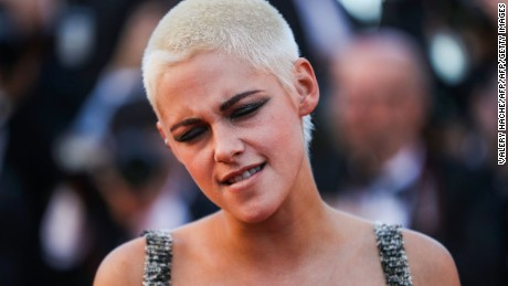 Director/Screenwriter Kristen Stewart poses as she arrives on May 20, 2017 for the screening of the film '120 Beats Per Minute (120 Battements Par Minute)' at the 70th edition of the Cannes Film Festival in Cannes, southern France.  / AFP PHOTO / Valery HACHE        (Photo credit should read VALERY HACHE/AFP/Getty Images)