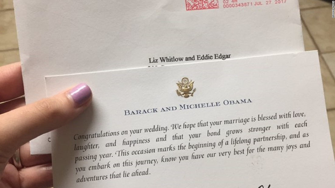 barack obama still responds to strangers wedding invitations cnnpolitics