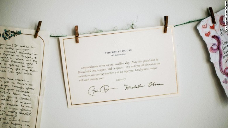 Barack obama still responds to strangers wedding invitations may this special time be blessed with love laughter and happiness we wish you all the best as you embark on your journey together and we hope your bond m4hsunfo