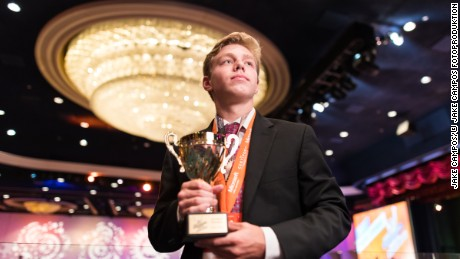 John Dumoulin, a 17-year-old high school student, was crowned Microsoft Excel 2016 world champion.