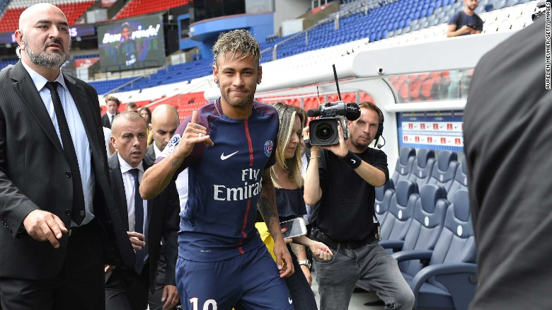 Neymar speaks to CNN after joining PSG