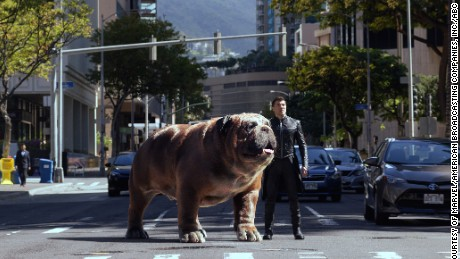 Lockjaw and Black Bolt (Anson Mount) in 'Marvel's Inhumans'