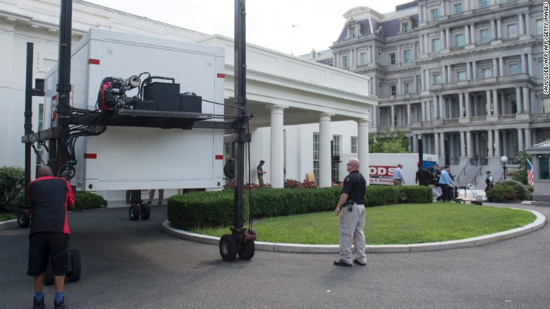 See the White House as a construction zone