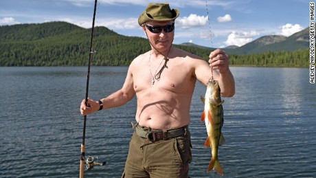 Putin fishes this week during his Siberian vacation.
