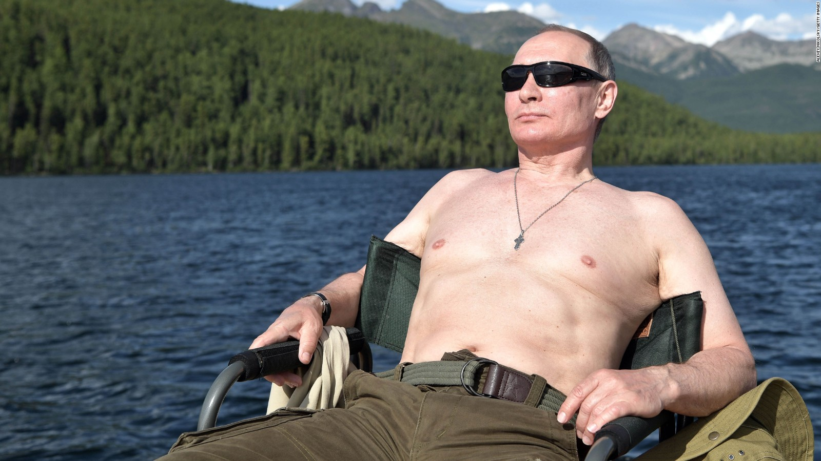 Vladimir Putin Boats Sunbathes And Picks Mushrooms In His Russian Vacation Photos