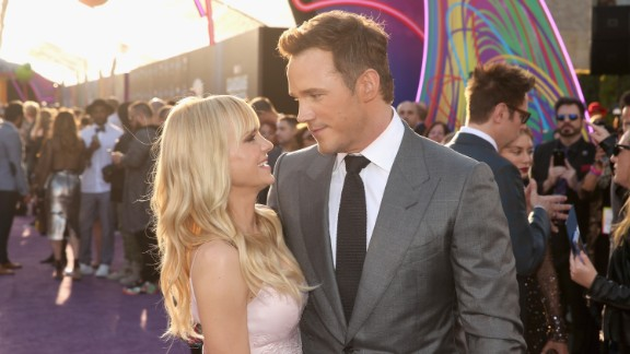 HOLLYWOOD, CA - APRIL 19:  Actors Anna Faris (L) and Chris Pratt at The World Premiere of Marvel Studios Guardians of the Galaxy Vol. 2. at Dolby Theatre in Hollywood, CA April 19th, 2017  (Photo by Jesse Grant/Getty Images for Disney)