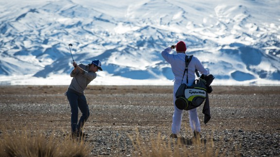 Mongolia is one of the world's flattest and most sparsely populated countries. In 2017, the country's vast plains served as a makeshift golf course for two intrepid travelers.