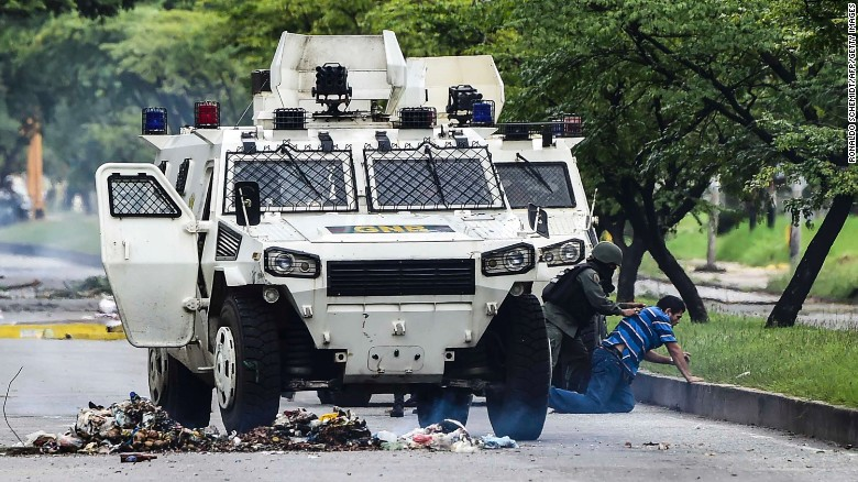 Violence in Venezuela after attempted attack on military base