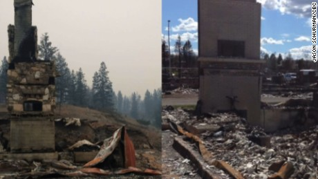 Canadian man loses two homes in wildfires