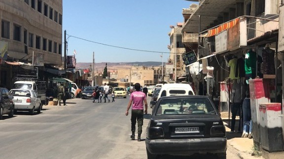 Many more people are coming out in regime-held areas and more shops are open.