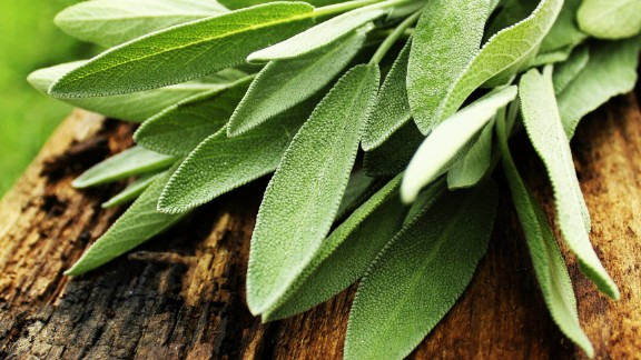 """Sage is a potent herb often used in stuffing and butters. Studies have shown that it may be helpful for memory, cholesterol and menopausal symptoms if taken by mouth. In one <a href=""""https://www.ncbi.nlm.nih.gov/pubmed/11799306"""" target=""""_blank"""" target=""""_blank"""">study,</a> a mixture of sage and rhubarb on cold sores was nearly as effective as the antiviral medication acyclovir.<br /><br />Evidence is sparse for the use of sage for cancer, asthma and stomach pain. Use in food is considered safe, but supplements are not advised during pregnancy or if you have seizures, high or low blood pressure or a hormone-sensitive cancer such as breast or ovarian cancer."""